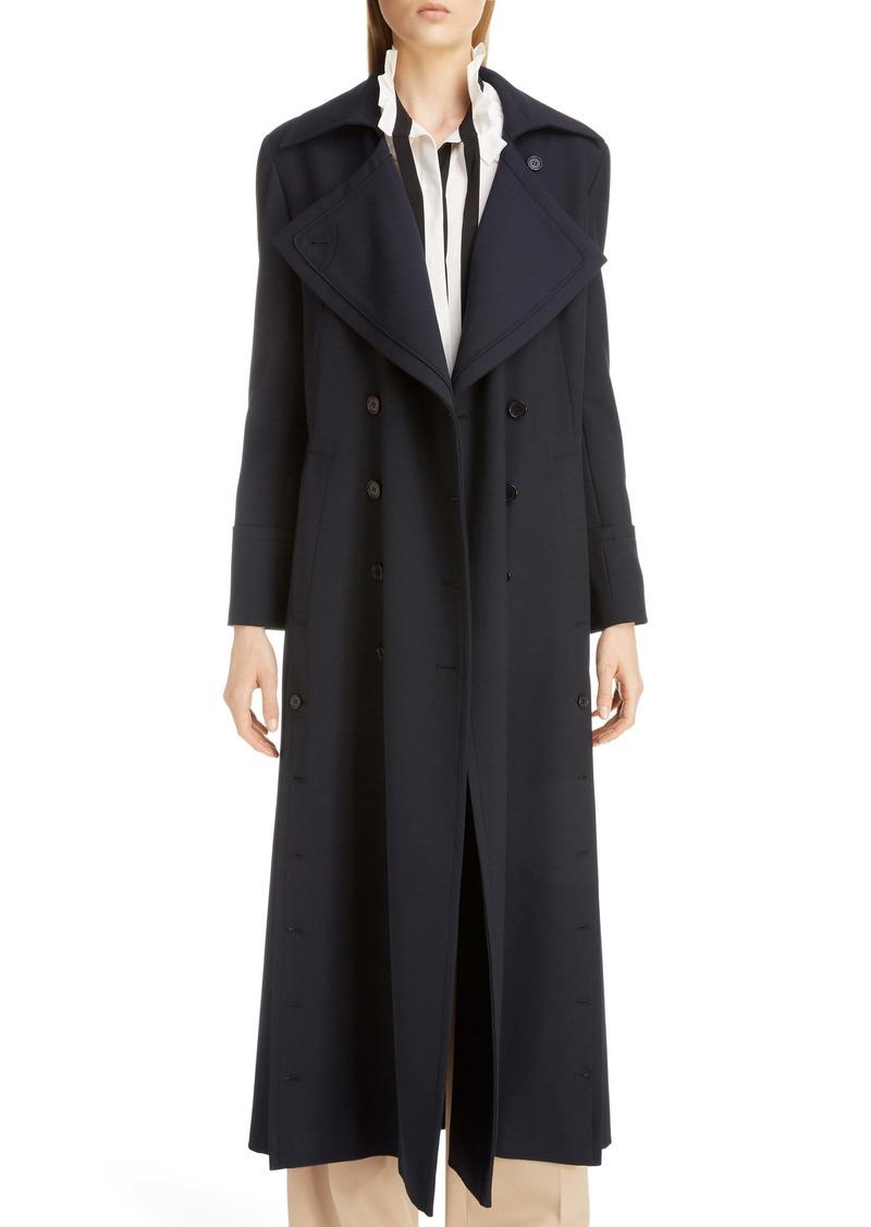 Chloé Button Detail Long Trench Coat