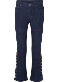 Chloé Button-detailed mid-rise flared jeans