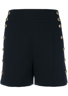 Chloé button-embellished fitted shorts - Black