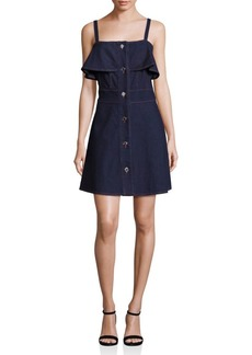 See by Chloé Button-Front Denim Dress