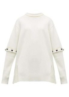 Chloé Button-through sleeves wool-blend sweater