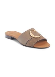 Chloé C Logo Slide Sandal (Women)