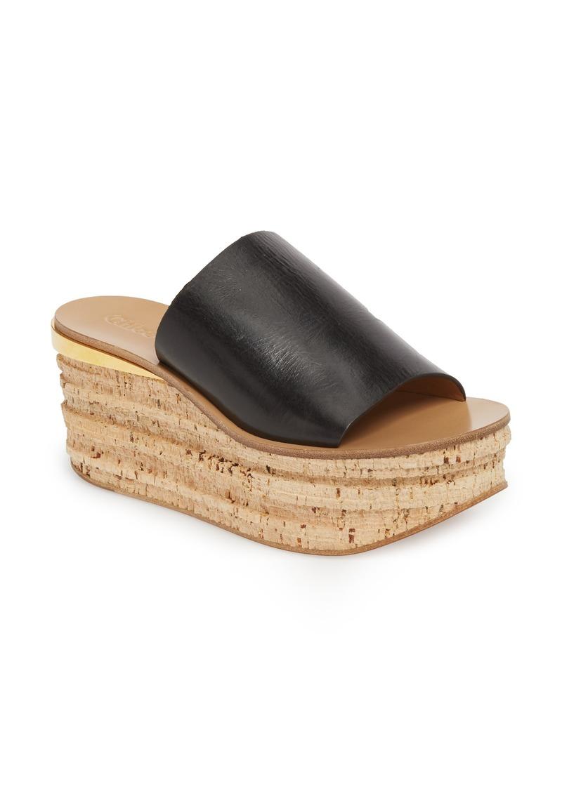 Chloé Camille Cork Platform Sandal (Women)