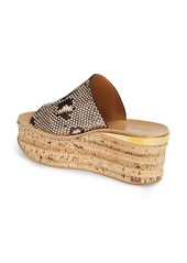 Chloé Camille Python Embossed Platform Sandal (Women)