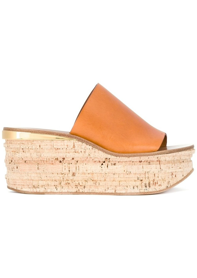 Chloé Camille wedge mules - Nude & Neutrals