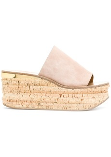 Chloé Camille wedge mules - Pink & Purple