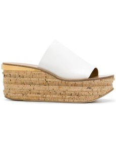 Chloé Camille wedge mules - White