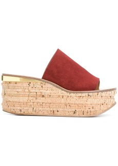 Chloé Camille wedge sandals - Brown