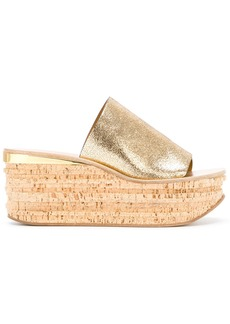 Chloé Camille wedge sandals - Metallic