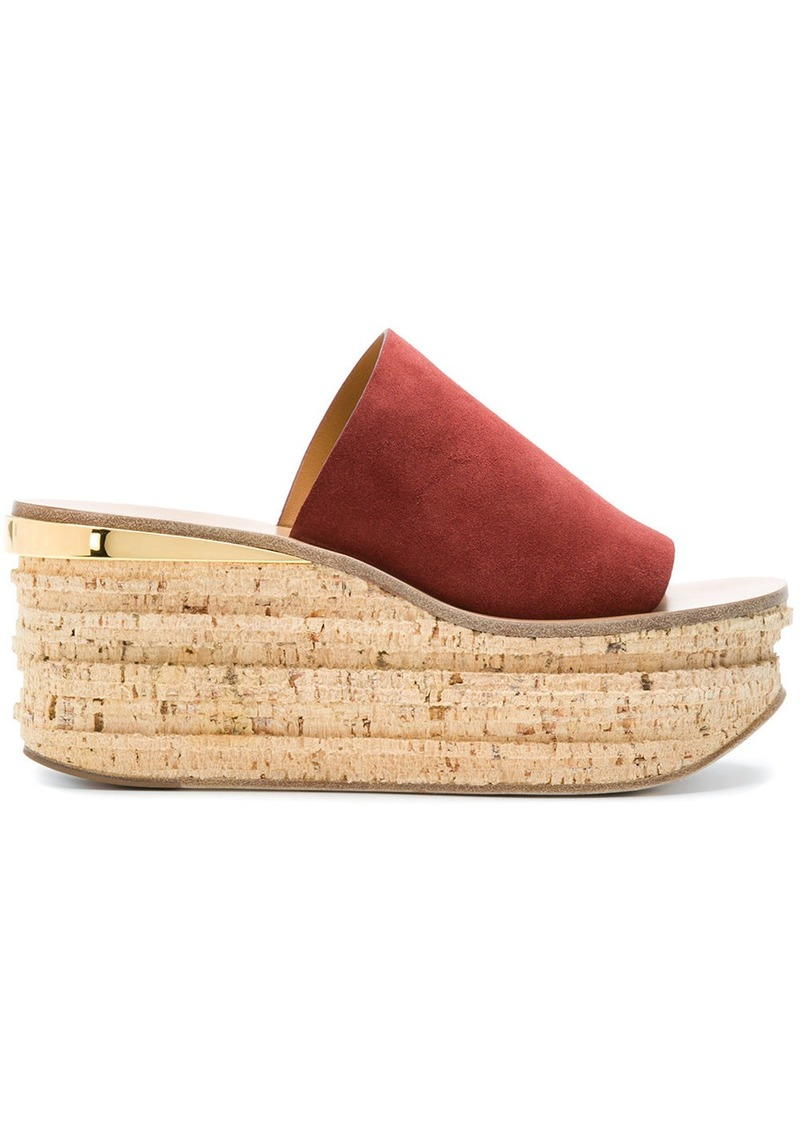 Chloé Camille wedge sandals - Multicolour