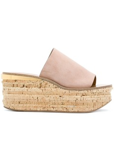Chloé Camille wedge sandals - Nude & Neutrals