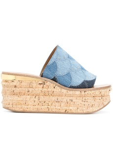 Chloé Camille wedges - Blue