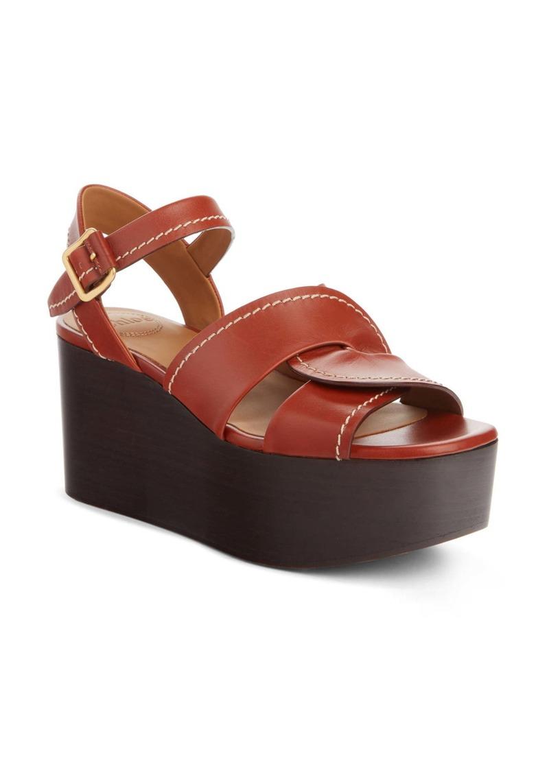 Chloé Candice Wedge Platform Sandal (Women)