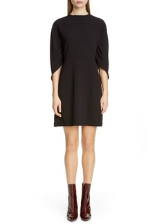 Chloé Cape Sleeve Crepe Dress