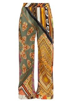 Chloé Caravan-print silk trousers