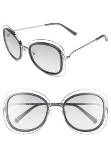 Chloé 'Carlina' 56mm Gradient Sunglasses