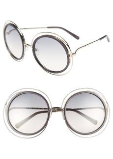 Chloé 'Carlina' 58mm Round Sunglasses