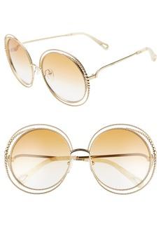bccfd945aab Chloé Chloé Vera 56mm Seashell Shape Sunglasses