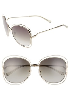 Chloé Carlina 60mm Gradient Les Sunglasses