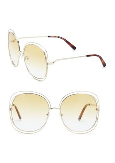 Chloé Carlina 60MM Oversized Round Sunglasses