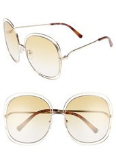 Chloé Carlina 62mm Oversize Sunglasses