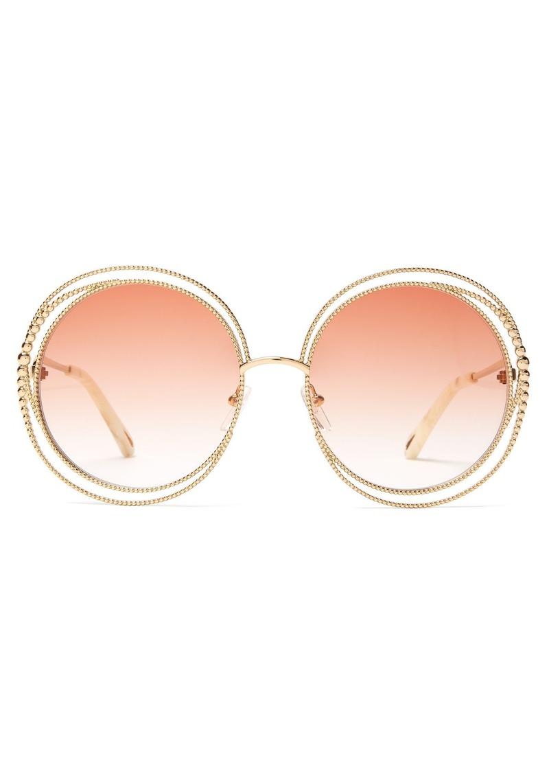 e9006d1d Carlina chain-frame oversized round sunglasses