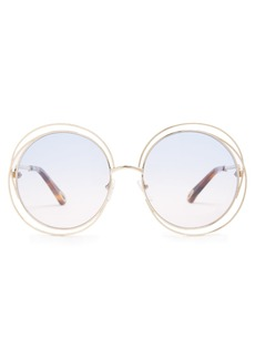 Chloé Carlina mini round-frame sunglasses
