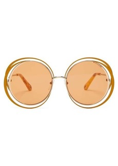Chloé Carlina round metal and acetate sunglasses