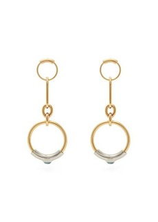 Chloé Chain-link drop hoop earrings