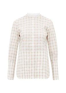 Chloé Checked cotton-blend shirt