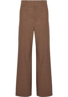 Chloé Checked stretch-cady wide-leg pants
