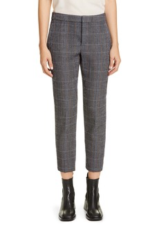 Chloé Checked Stretch Wool Crop Pants