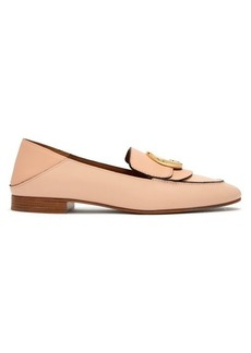 Chloé Chloé collapsible-heel leather loafers