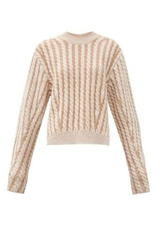 Chloé Chunky cable-knit side-slit wool-blend sweater