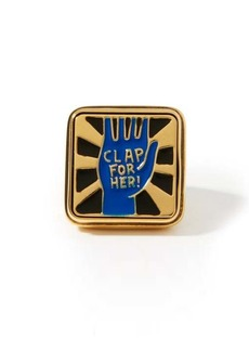 Chloé Clap for Her! lacquered signet ring
