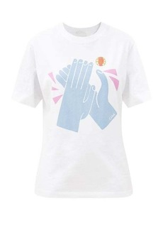 Chloé Clap-print cotton-jersey T-shirt