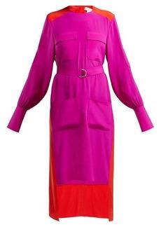 Chloé Colour-block panelled crepe dress