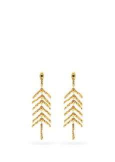 Chloé Connie coral-branch earrings