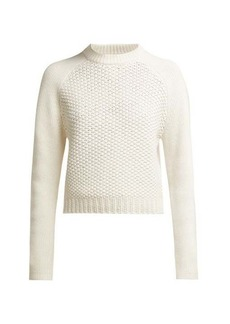 Chloé Contrast-knit wool and cashmere-blend sweater