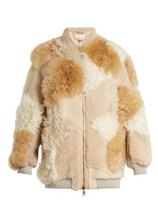 Chloé Contrast-panel shearling coat