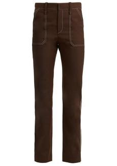 Chloé Contrast-stitch straight-leg trousers