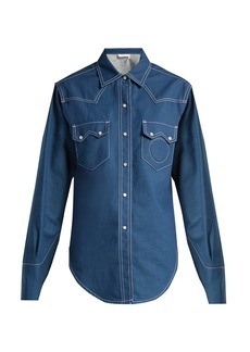 Chloé Contrast-topstitching denim shirt