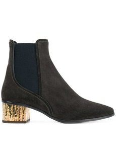 Chloé contrasting heel boots - Black