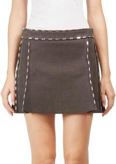 Chloé Cotton Ringed Mini Skirt