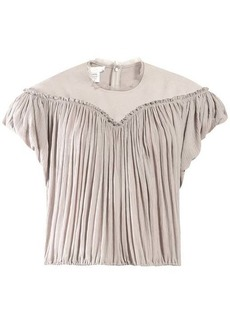 Chloé Crinkle-pleated crepe top