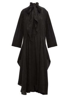 Chloé Crinkled flower-jacquard midi dress