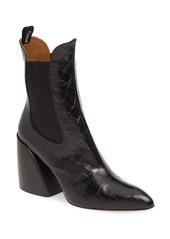 Chloé Croc Embossed Chelsea Boot (Women)