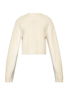 Chloé Cropped cable-knit sweater