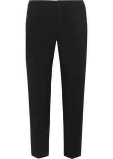 Cropped cady slim-leg pants