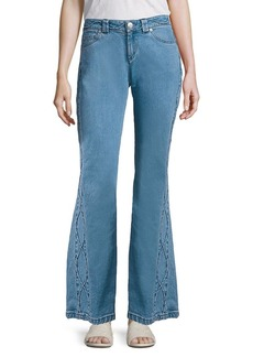 See by Chloé Cropped Flared Jeans